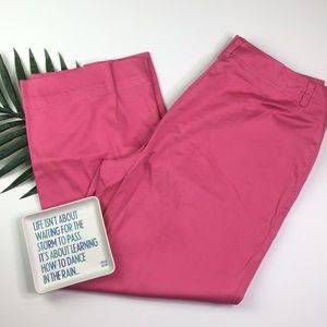 New York & Co Hot Pink Stretch Cropped Pants 8